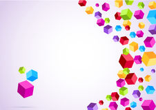 Colorful rainbow cubes form a background Royalty Free Stock Photos