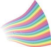 Colorful rainbow decoration Stock Photo