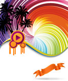 Colorful rainbow discotheque banner. Clip-art Royalty Free Stock Images