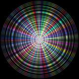 Colorful (rainbow) disk made of concentric circles Royalty Free Stock Images