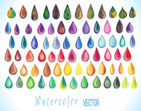 Colorful rainbow drops. Royalty Free Stock Photography