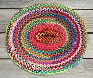 Colorful Rainbow Hand Braided Rug Royalty Free Stock Photography
