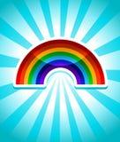 Colorful Rainbow Icon Stock Image