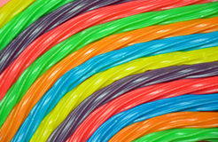 Colorful rainbow licorice Stock Photos
