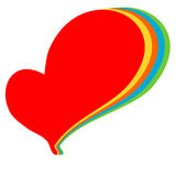 Colorful rainbow logo heart illustration Royalty Free Stock Images
