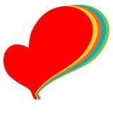 Colorful rainbow logo heart illustration Royalty Free Stock Images
