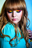 Colorful rainbow make-up Royalty Free Stock Images