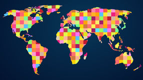 Colorful rainbow map Royalty Free Stock Photo