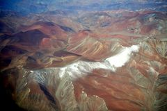 Colorful rainbow mountains in Peru with fairy tale views. Rainbow-shimmering mountainside. An image not like this planet. A unique phenomenon of oxidation of royalty free stock image