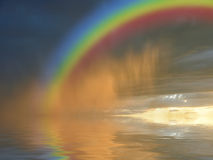 Colorful rainbow over water Royalty Free Stock Photography