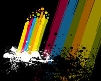 Colorful rainbow and paint Royalty Free Stock Photo