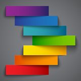 Colorful rainbow  paper stripe banners arrow on Royalty Free Stock Photo