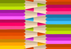 Colorful rainbow pencil pattern Stock Photography