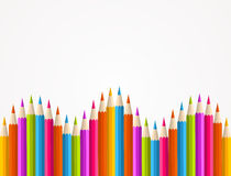 Colorful rainbow pencil pattern Royalty Free Stock Image