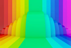 Colorful rainbow perspective background,3d. Abstract colorful rainbow perspective background,3d Royalty Free Stock Images