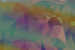 Colorful  rainbow polygon background Royalty Free Stock Images