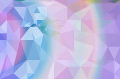 Colorful  rainbow polygon background Stock Photo