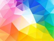 Colorful rainbow polygon background Stock Image