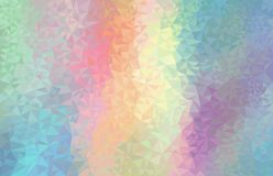 Colorful rainbow polygon background. Vector geometry futuristic decoration. royalty free illustration