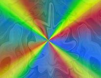 Colorful rainbow rays royalty free illustration
