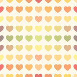 Colorful rainbow retro hearts background. Colorful rainbow retro hearts seamless Valentine background royalty free illustration