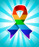 Rainbow Pride Ribbon Royalty Free Stock Image