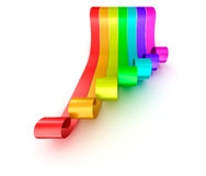 Colorful rainbow ribbons isolated on white background Royalty Free Stock Photo
