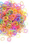 Colorful rainbow rubber looms Stock Photo