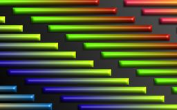 Colorful rainbow bars background - Abstract dimensional shapes wallpaper stock images