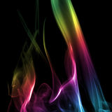 Colorful Rainbow Smoke Royalty Free Stock Photos