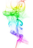 Colorful Rainbow Smoke. On white Stock Photo