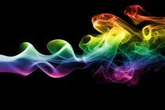 Colorful rainbow smoke Stock Images