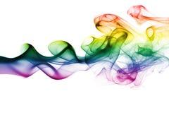 Colorful rainbow smoke Stock Photos