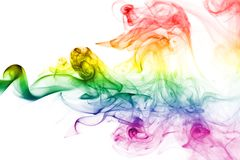 Colorful rainbow smoke Royalty Free Stock Images