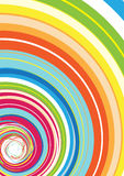 Colorful Rainbow Spiral Stock Image