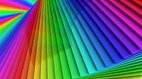 Colorful rainbow sprial abstract background of stacked glass pla. Coloful rainbow abstract background of a spiral stack of glass planes Stock Photography