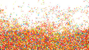 Colorful rainbow sprinkles background Royalty Free Stock Photo
