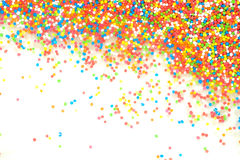 Colorful rainbow sprinkles backgroung. Colorful rainbow sprinkles for cake or dessert decoration Stock Photography