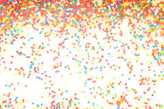 Colorful rainbow sprinkles backgroung Royalty Free Stock Photo