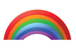 Colorful Rainbow template isolated Royalty Free Stock Images