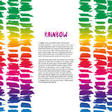 Colorful rainbow texture decoration. Vector template for flyer, banner, poster, brochure, cover Stock Photos