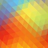 Colorful rainbow triangular background Stock Image