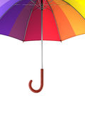 Colorful rainbow umbrella  on white background. 3D illustration . Royalty Free Stock Photography