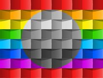 Colorful rainbow vector background . Stock Photo