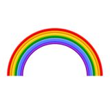 Colorful Rainbow Vector Illustration Royalty Free Stock Images