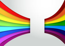 Colorful rainbow wave banner. Clip-art Royalty Free Stock Image
