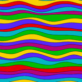 Colorful rainbow wave texture, seamless vector pattern for textile, backdrops, wallpapers, wrapping paper and other. gay Royalty Free Stock Photo
