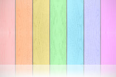 Colorful rainbow wood textured horizontal background. Stock Photography