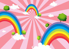 Colorful rainbows Royalty Free Stock Photography