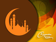 Colorful ramadan kareem background design. Royalty Free Stock Photo